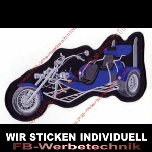 Trike Backpatch Patches Aufnäher Blau