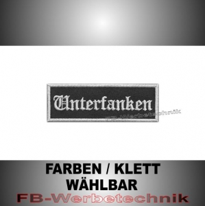 Unterfranken Patches Aufnäher Biker Patch 9x3 S2