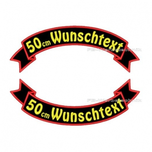Wunschtext Flaggen SET 50 cm Patches S03