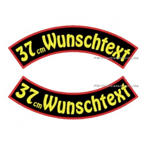 Wunschtext Bögen SET 37 cm Patches S03