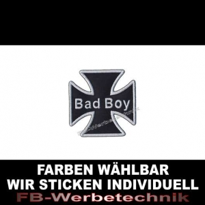 Bad Boy Patch Aufnäher Kreuz EK 7x7 S01