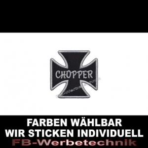 CHOPPER Patch Aufnäher Kreuz EK 7x7