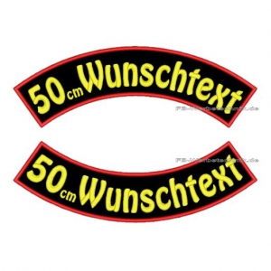 Wunschtext Bögen SET 50 cm Patches S03