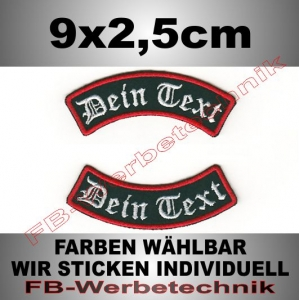 Wunschtext Bögen 2er SET 9x2,5cm Patches S02
