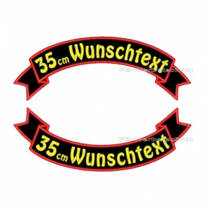 Wunschtext Flaggen SET 35 cm Patches S03