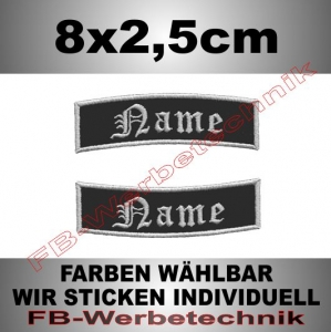 Wunschtext Bögen 2er SET 8x2,5cm Patches S02