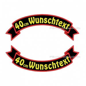 Wunschtext Flaggen SET 40 cm Patches S03