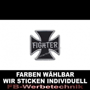 FIGHTER Patch Aufnäher Kreuz EK 7x7