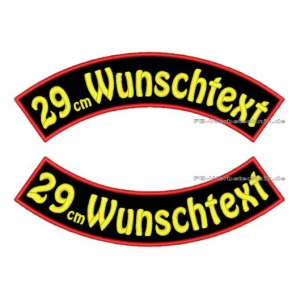 Wunschtext Bögen SET 29 cm Patches S03