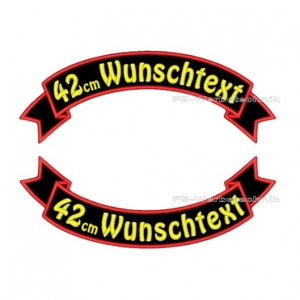 Wunschtext Flaggen SET 42 cm Patches S03