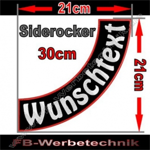 Side Rocker 30cm Aufnäher Patch S03