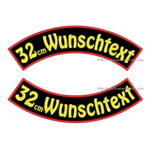 Wunschtext Bögen SET 32 cm Patches S03