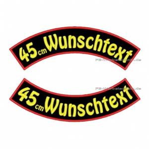 Wunschtext Bögen SET45 cm Patches S03
