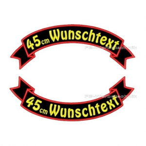 Wunschtext Flaggen SET 45 cm Patches S03