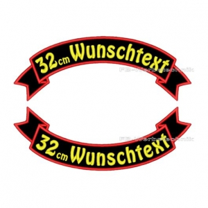 Wunschtext Flaggen SET 32 cm Patches S03