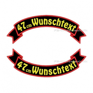 Wunschtext Flaggen SET 47 cm Patches S03