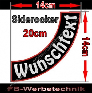 Side Rocker 20cm Aufnäher Patch S03