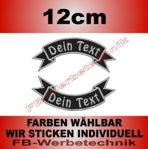 Text Aufnäher Patch 2er SET 12x5cm Flaggen S03
