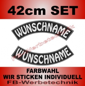 Wunschtext Bögen SET 42 cm Patches S03