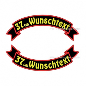 Wunschtext Flaggen SET 37 cm Patches S03