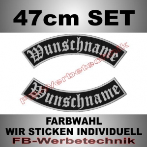 Wunschtext Bögen SET 47 cm Patches S02