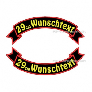 Wunschtext Flaggen SET 29 cm Patches S03