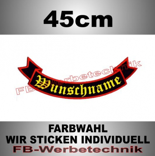 Bottom Rocker 45 cm Flagge Patch S02