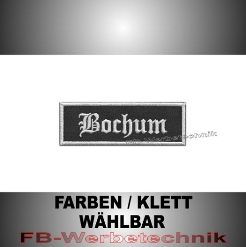 Bochum Patches Aufnäher Biker Patch 9x3 S2