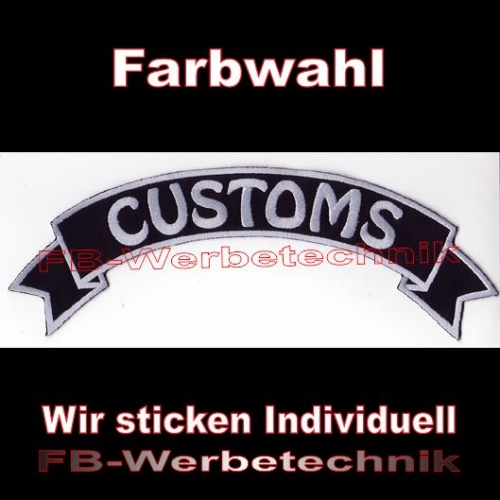 CUSTOMS Top Rocker 29cm Patches Aufnäher S03