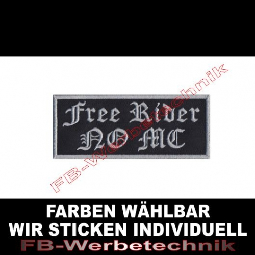 Free Rider NO MC Aufnäher Patches 10cm x 4cm