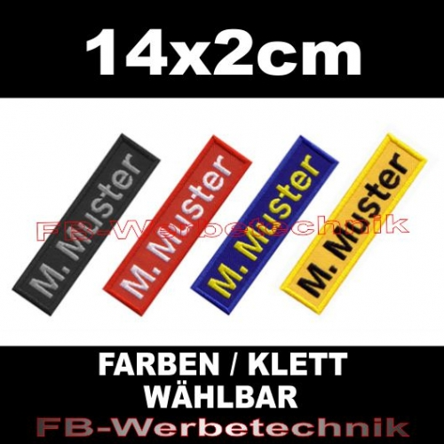 namensschilder klettband patch aufnaeher patches gestickt