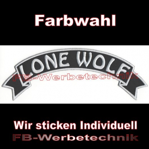 LONE WOLF Top Rocker 29cm Patches Aufnäher S03