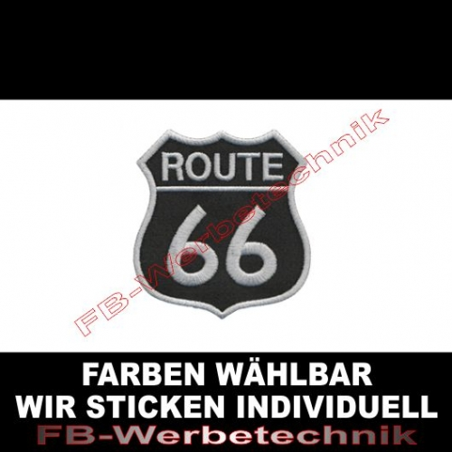 ROUTE 66 Aufnäher Patches 8x7,5cm Wappen