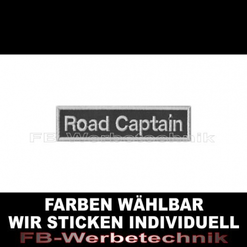 Road Captain Aufnäher Patches 10cm x 2,5cm