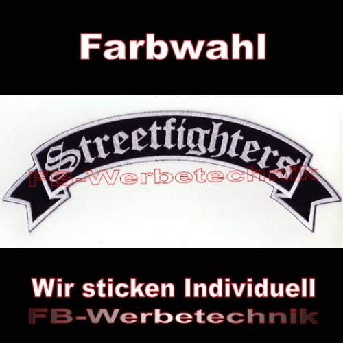 Streetfighters Top Rocker 29cm Patches Aufnäher S02