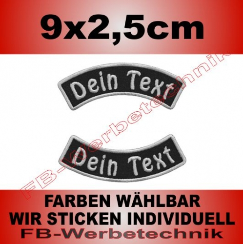 Wunschtext Bögen SET 9x2,5cm Patches S03
