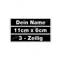 Namenspatch Wunschtext 11x6cm Patches Aufnäher 3in1 S01