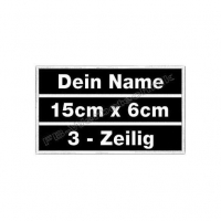 Namen 3-Zeilig 15x6cm Patches Aufnäher 3in1 S01