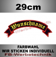 TOP ROCKER 29cm Flagge Patch S02