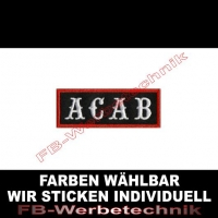 A C A B Aufnäher Patches 8x3cm ACAB Patch