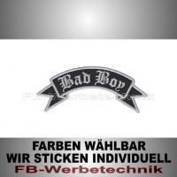 Bad Boy Patch Flagge OBEN 12cm Aufnäher S02
