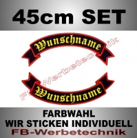 Wunschtext Flaggen SET 45 cm Patches S02