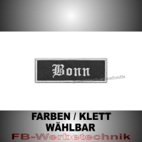 Bonn Patches Aufnäher Biker Patch 9x3 S2