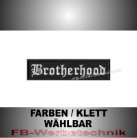 Brotherhood Patch Aufnäher Biker MC 10x2,5 S2