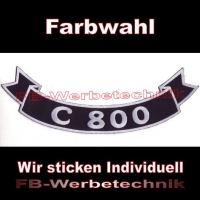 C 800 Bottom Rocker 29cm Aufnäher Patches S03