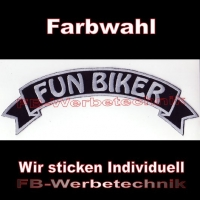 FUN BIKER Top Rocker 29cm Patches Aufnäher S03