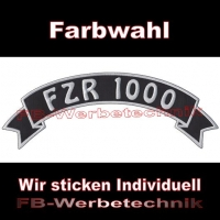 FZR 1000 Top Rocker 29cm Patches Aufnäher S03