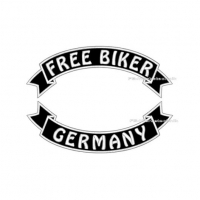 FREE BIKER GERMANY Patch SET 29cm Flaggen Aufnäher S03