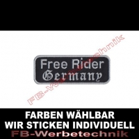 Free Rider Germany Aufnäher Patches 9cm x 3,5cm