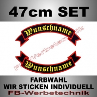 Wunschtext Flaggen SET 47 cm Patches S02